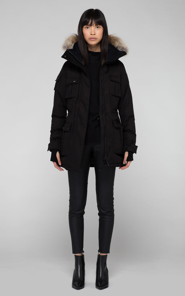 Nobis Ladies Cindy Parka in Black