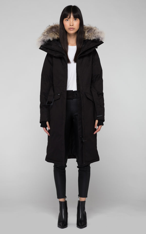 Nobis Ladies Morgan Long Down Parka in Black