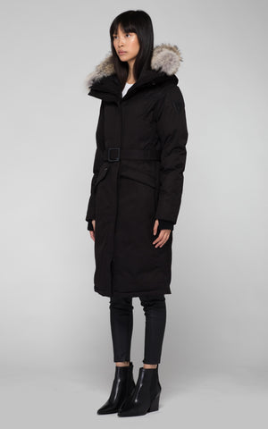 Nobis Morgan Long Parka in Black