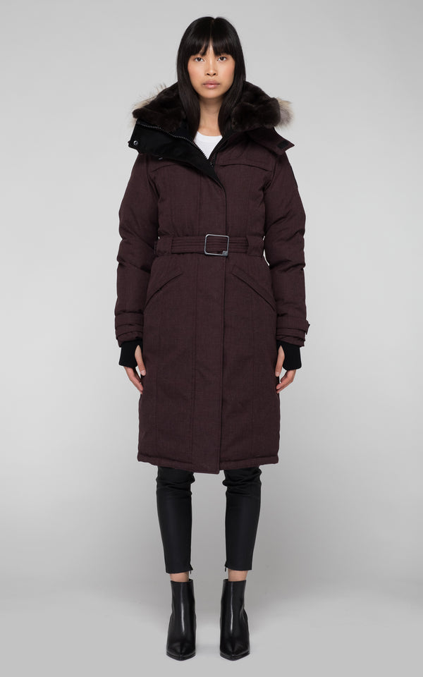 Nobis Ladies She-Ra Parka in Heathered Burgundy