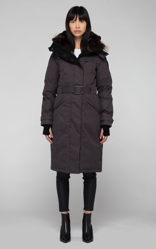 Nobis Ladies She-Ra Parka in Steel Grey