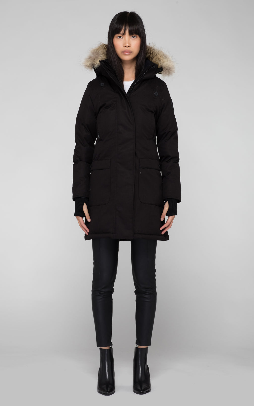 Nobis Merideth Ladies Down Parka in Black