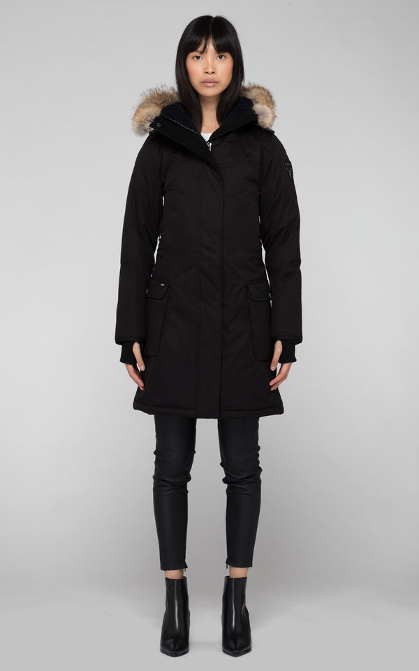 Nobis Ladies Abby Parka in Black