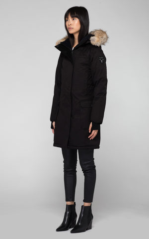 Nobis Abby Parka in Black - BOUTIQUE TAG