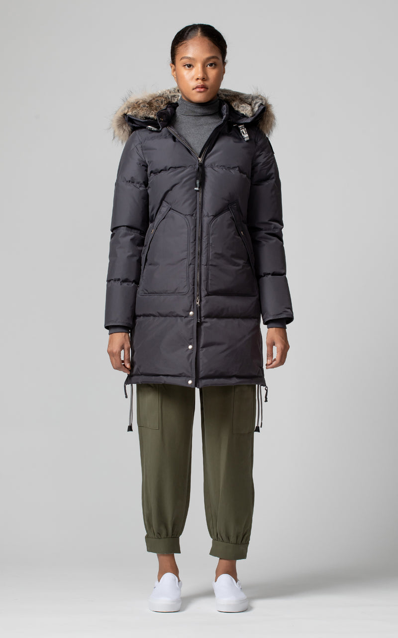 Parajumpers Women's Long Bear Parka in Nine Iron