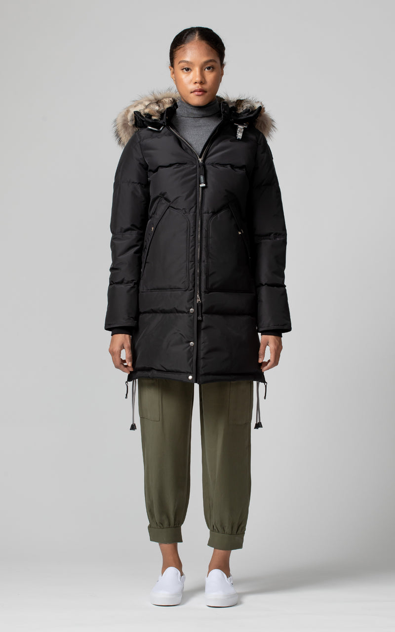 Parajumpers Women's Long Bear Parka in Black