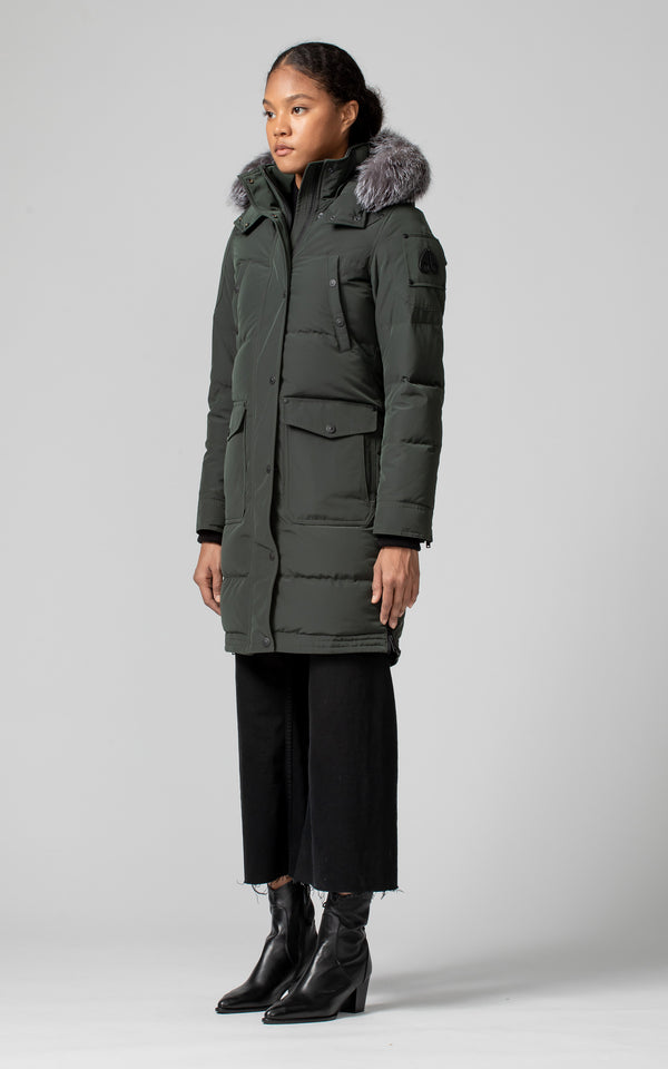 Moose Knuckles Ladies Causapcal Parka in Canadian Army