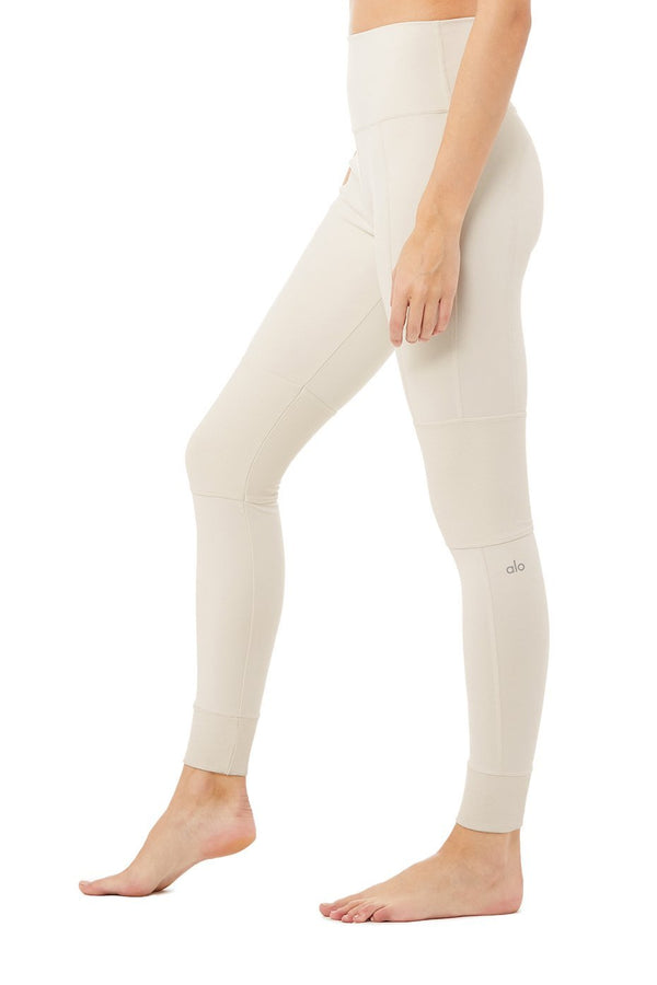 Alo Yoga High Waist Avenue Legging in Bone