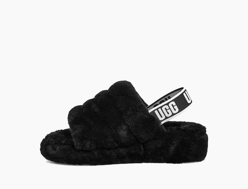 UGG Women's Fluff Yeah Slide in Black