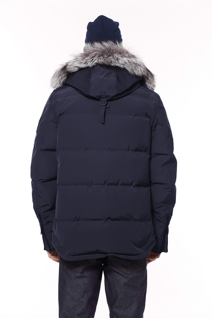 Moose Knuckles Port Dufferin Jacket in True Navy - BOUTIQUE TAG