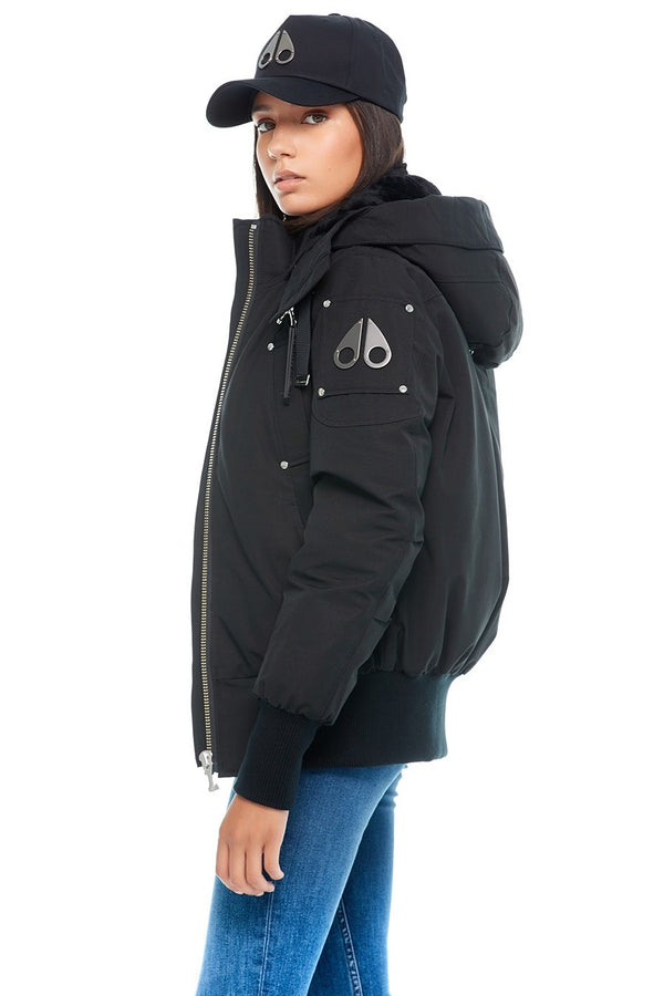 Moose Knuckles Ladies Lejeune Bomber in Black