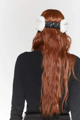 Apparis Eleni Faux fur headband in Ivory