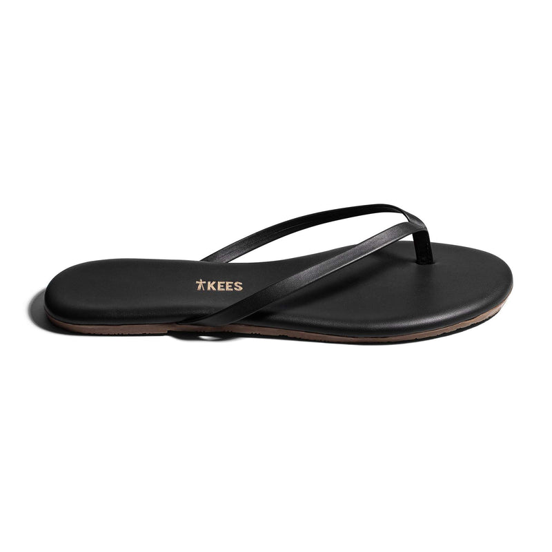TKEES Lily Liners Flip Flops in Sable