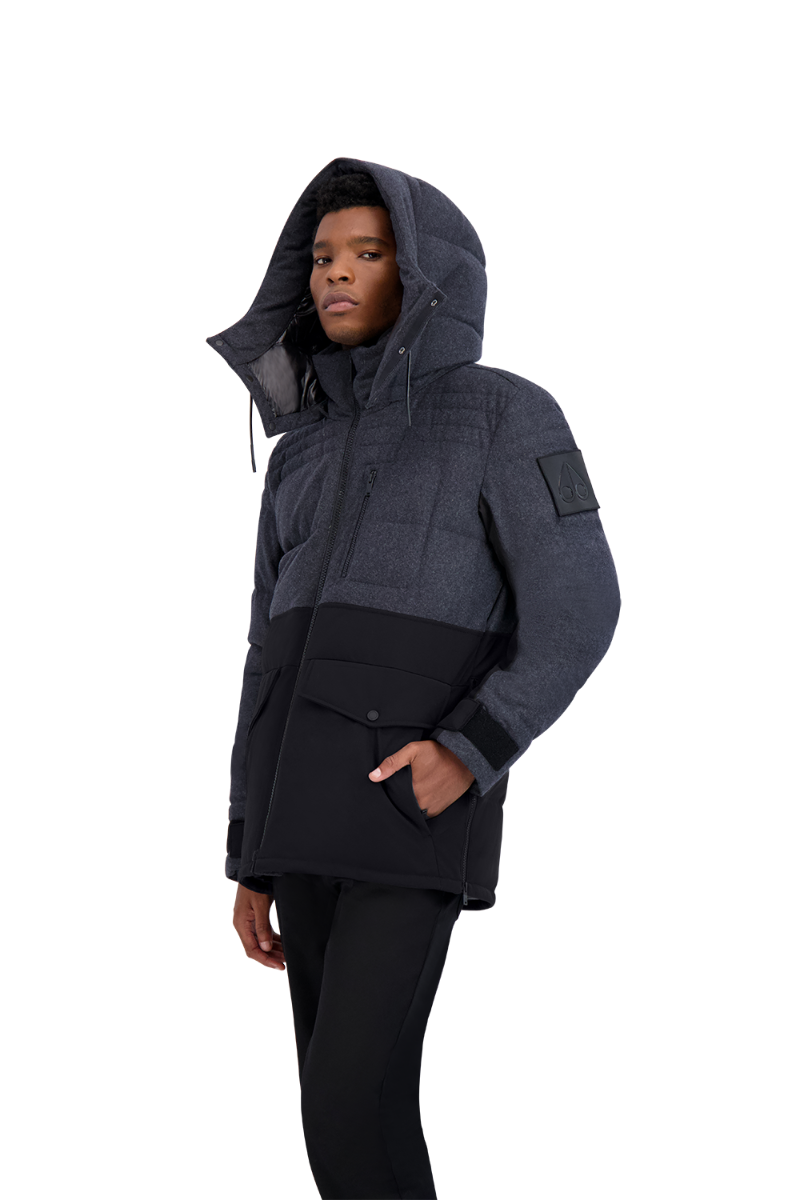 Moose Knuckles Flemington Jacket in Charcoal Melange
