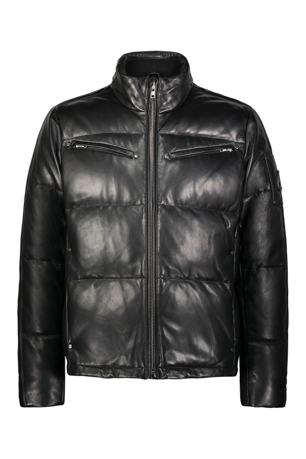 Moose Knuckles Men's Symington Leather Jacket in Black