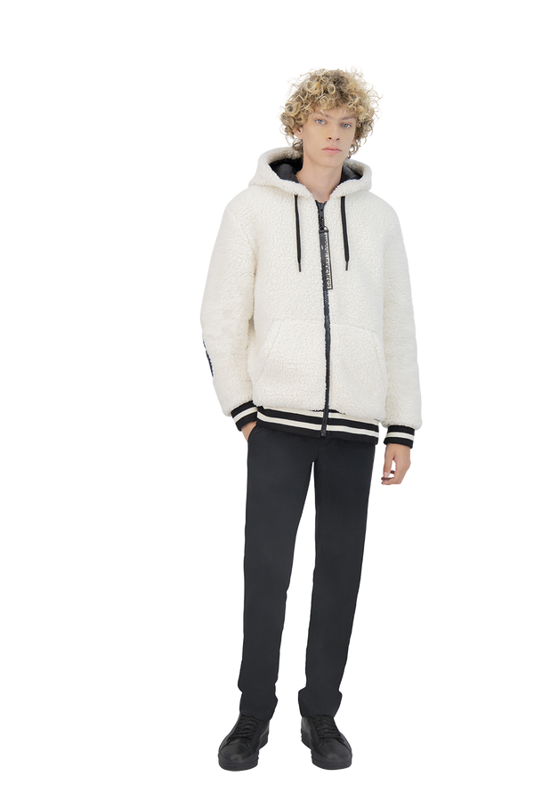 Moose Knuckles Men's Dewson Hoodie in Ivory
