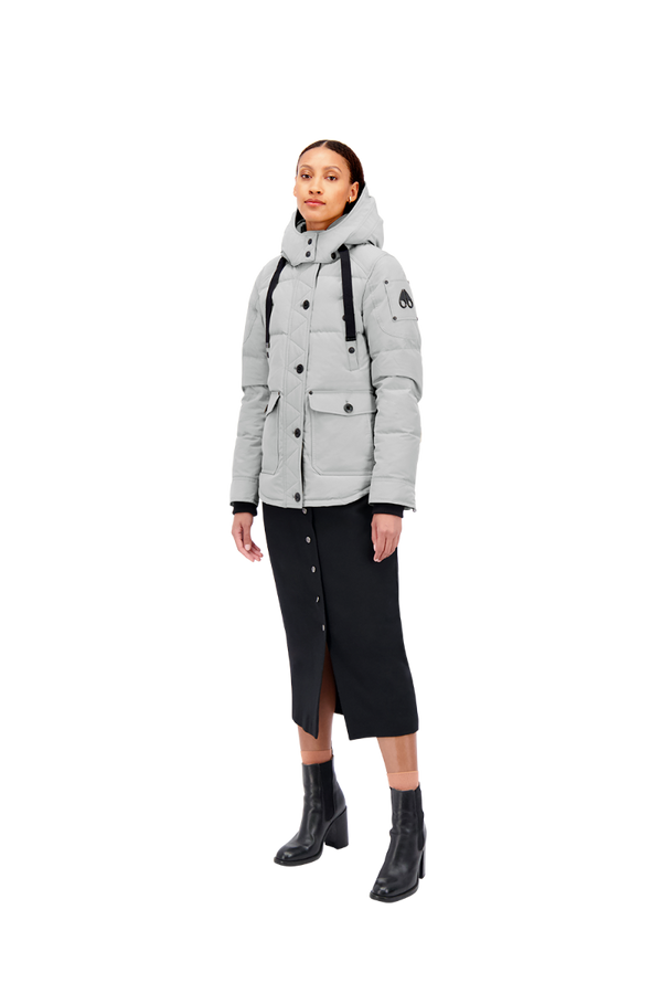 Moose Knuckles Ladies Godbout Jacket in Grey Birch