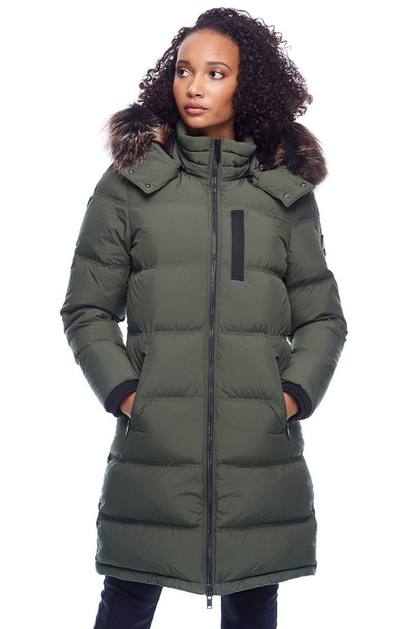 Moose Knuckles Women's Rush Lake Parka in Army with Viking Fur