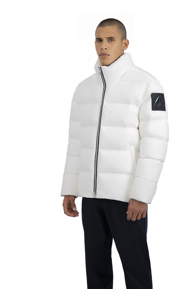 Moose Knuckles Men's Javelin Puffer Jacket in White