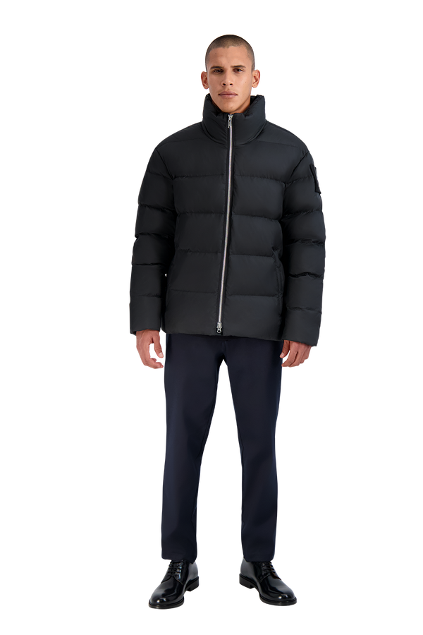 Moose Knuckles Men's Javelin Puffer Jacket in Black