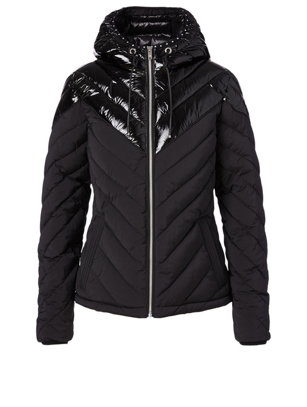 Moose Knuckles Ladies Exhibition Puffer Jacket in Black