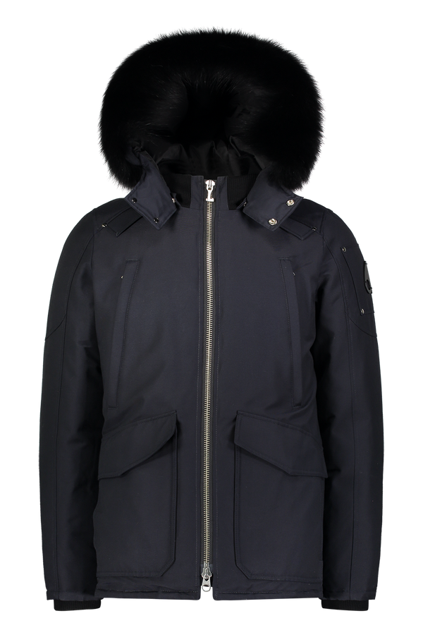 Moose Knuckles Men's Pearson Jacket in Navy with Black Fur