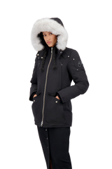 Moose Knuckles Ladies Fire River Jacket in Black