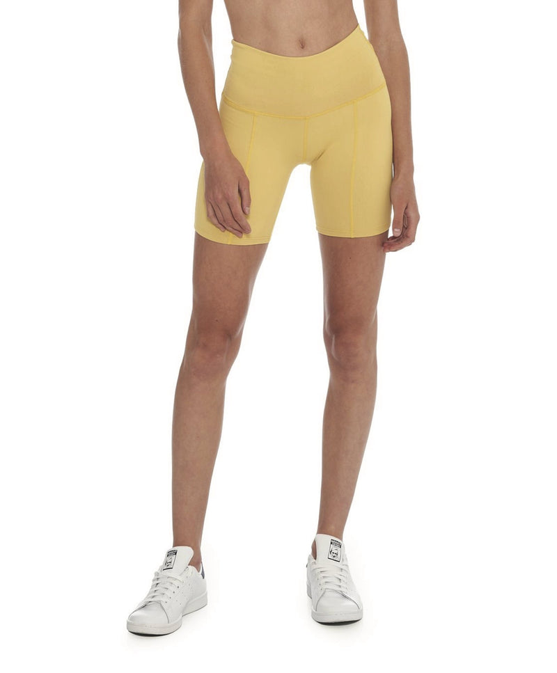 Morgan Stewart Sport Biker Short in Mustard