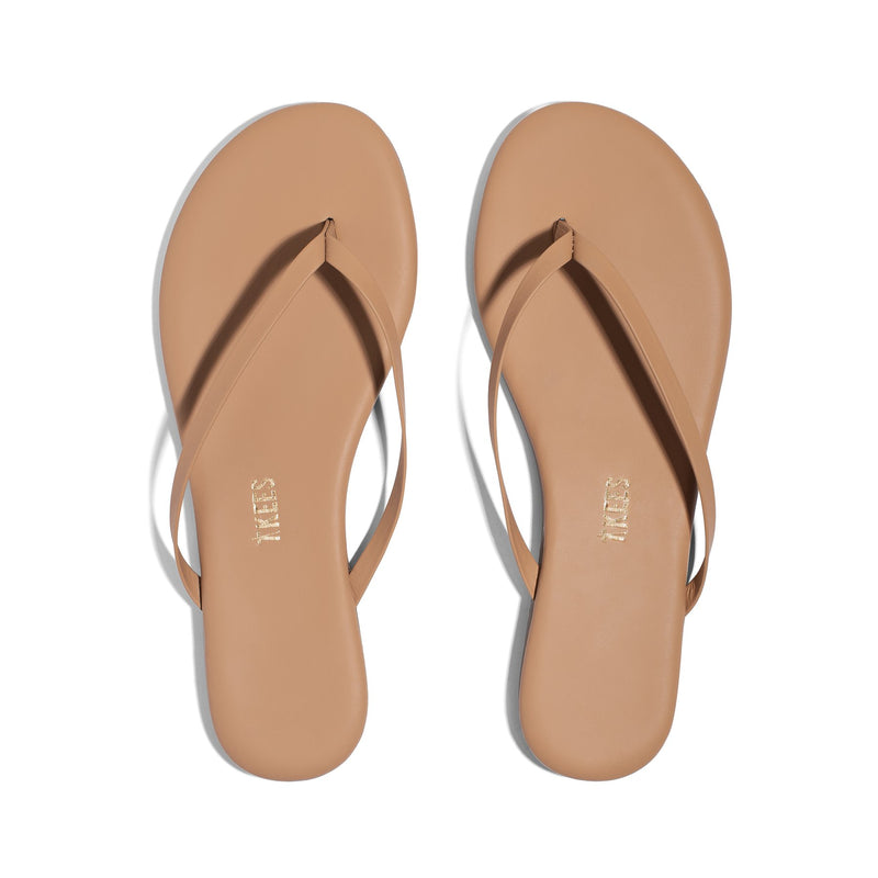 TKEES Lily Nudes Flip Flops in Cocobutter
