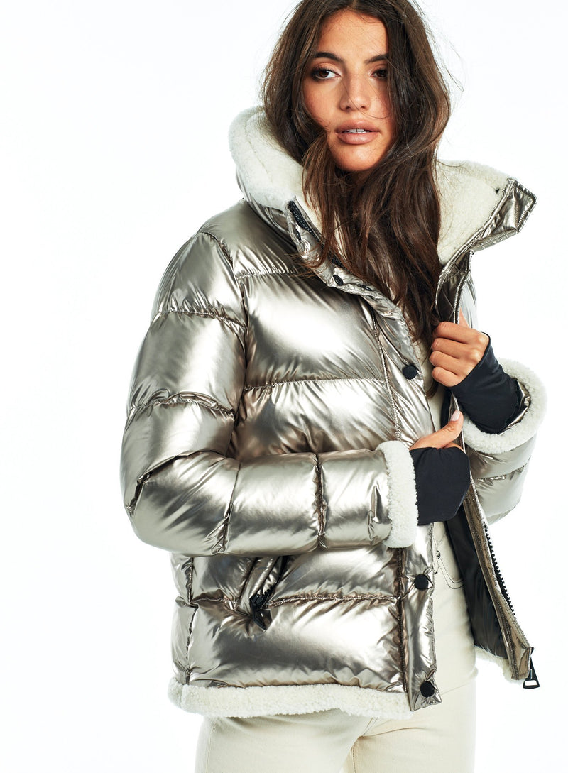 SAM. Willa Down Puffer Jacket in Pyrite