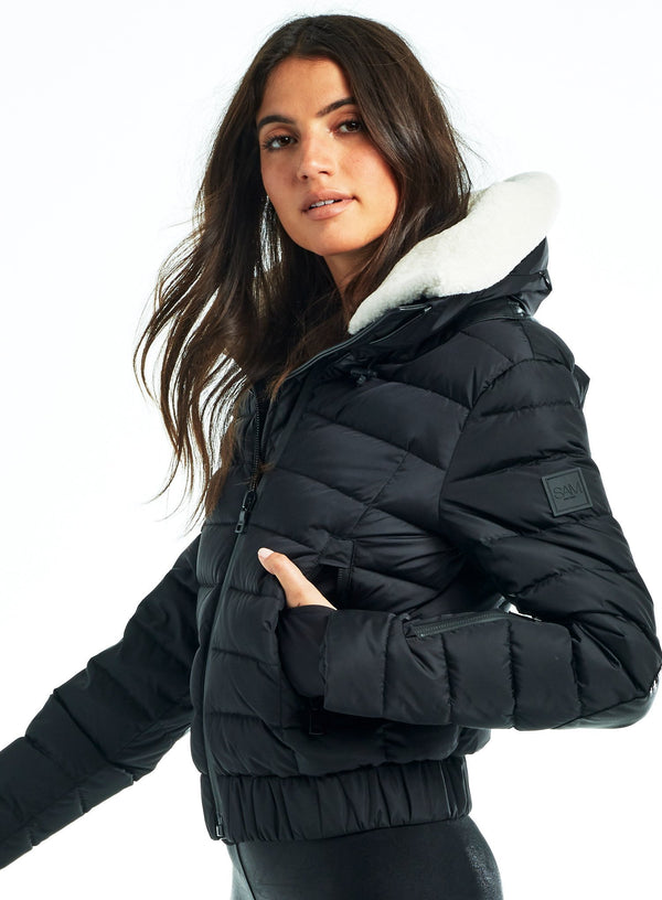 SAM. Aviator Down Jacket in Black