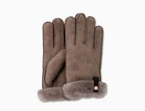 UGG Women's Tenney Sheepskin Gloves in Stormy Grey
