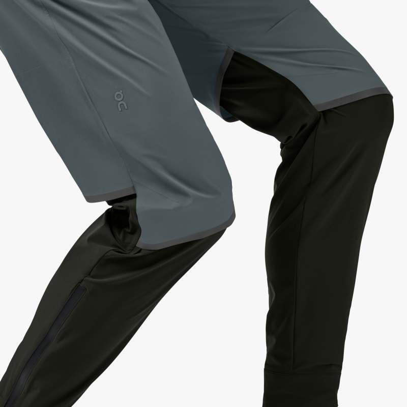 ON | Waterproof Pants in Shadow/Black