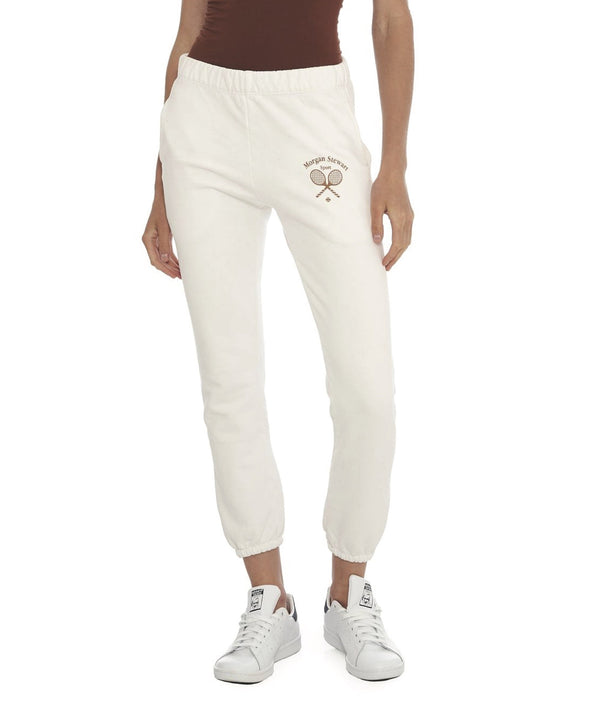 Morgan Stewart Sport Jogger in White