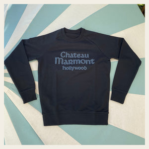 Chateau Marmont Black Embroidered Sweatshirt