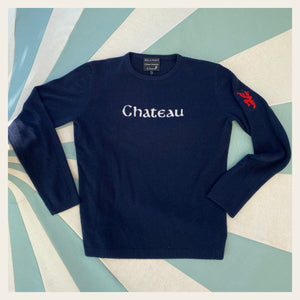 Chateau Marmont Navy Cashmere Mens Sweater