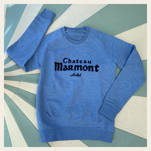 Chateau Marmont Heather Blue Sweatshirt