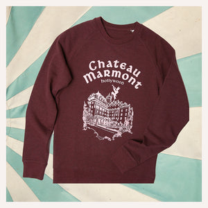 Chateau Marmont Heather Burgundy Sweatshirt