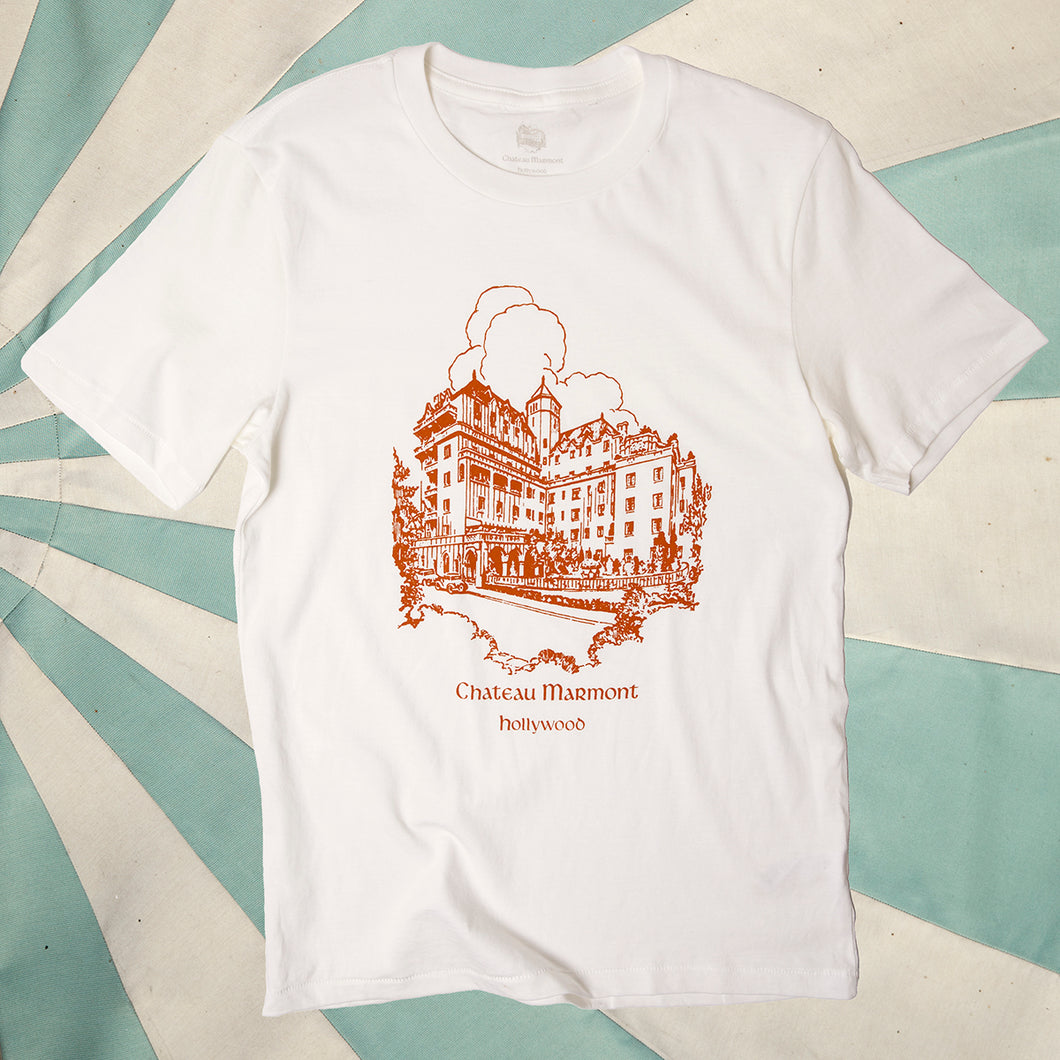 Chateau Marmont White with Copper Castle T-shirt