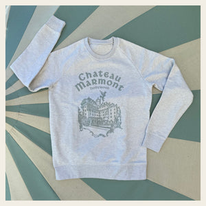 Chateau Marmont Cream Heather with Green Sweatshirt