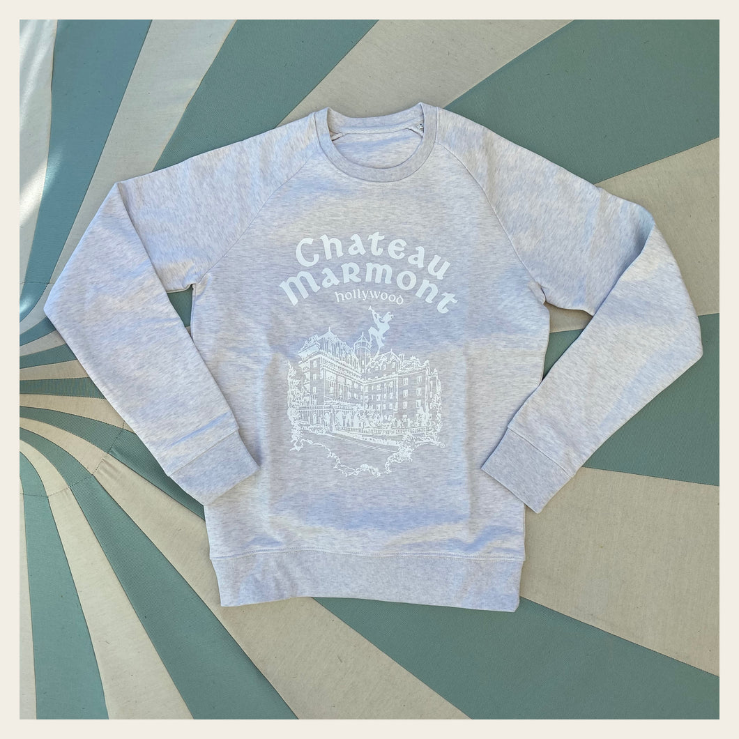 Chateau Marmont Cream Heather with White Sweatshirt