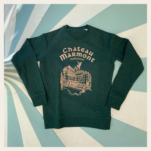Chateau Marmont Heather Green Sweatshirt