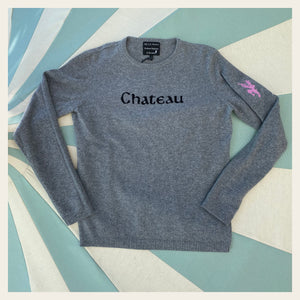 Chateau Marmont Grey Cashmere Womens Sweater
