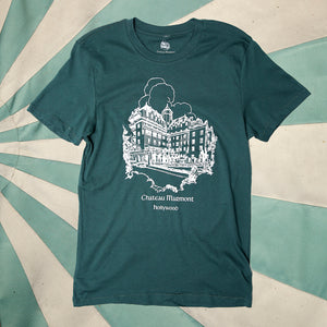 Chateau Marmont Hollywood Green T-shirt