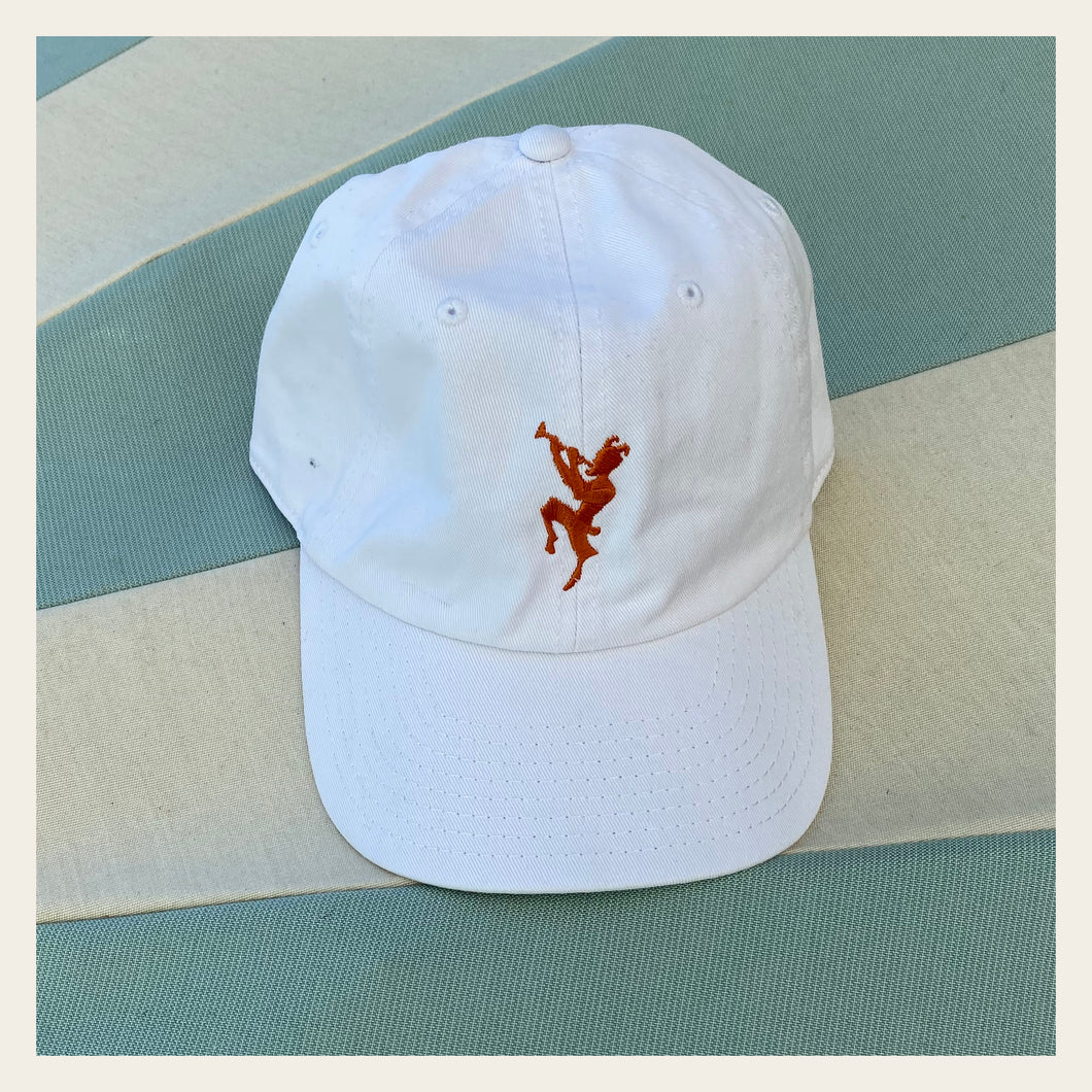 Chateau Marmont Embroidered White Cap
