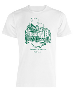Chateau Marmont Hollywood White with Green T-shirt