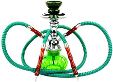 Load image into Gallery viewer, 11 inch Mini Pumpkin Hookah Glass Vase 2 tubes