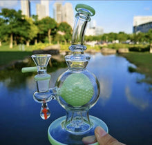 Load image into Gallery viewer, 7.8 inch Ball Perc Rig With Mini Mushroom accent