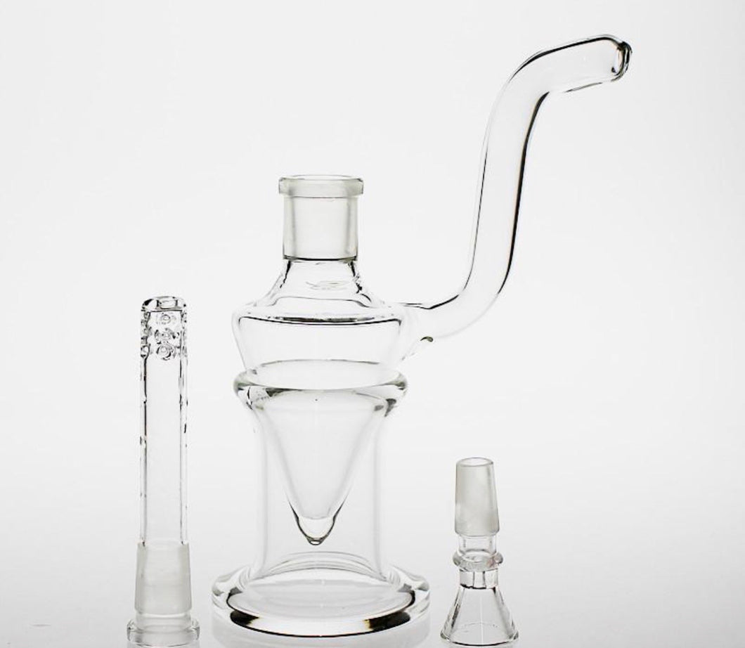 7.9 inch Clear Rig with Downstem + Bowl