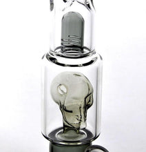 Load image into Gallery viewer, 11.5 inch Triple Chamber Skull Perc Bong